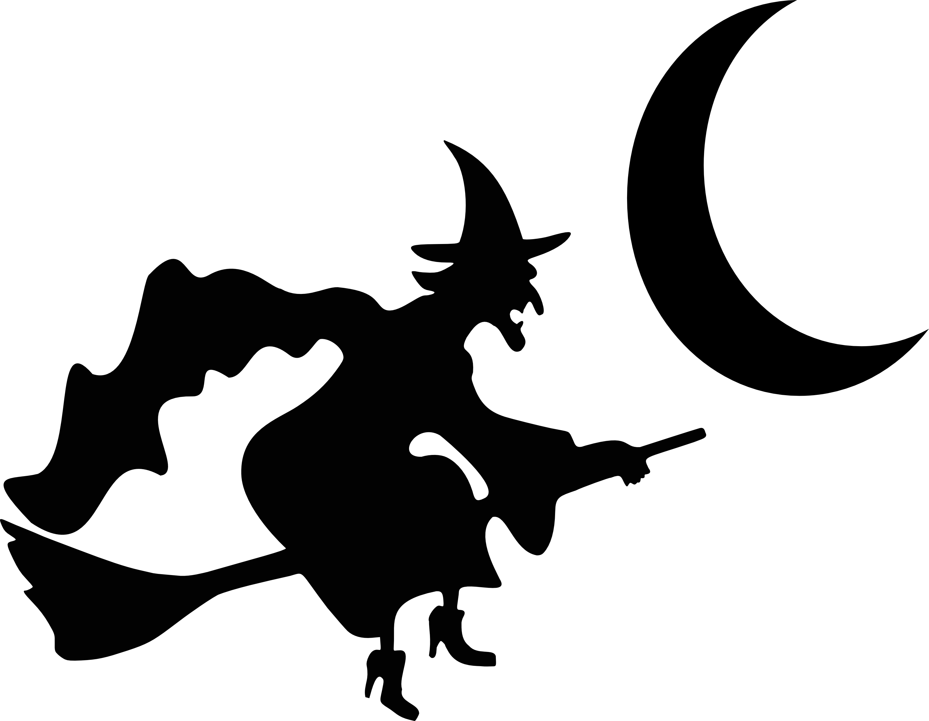 3200x2485 Witch Silhouette Clipart