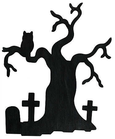 373x450 Haunted House Silhouette