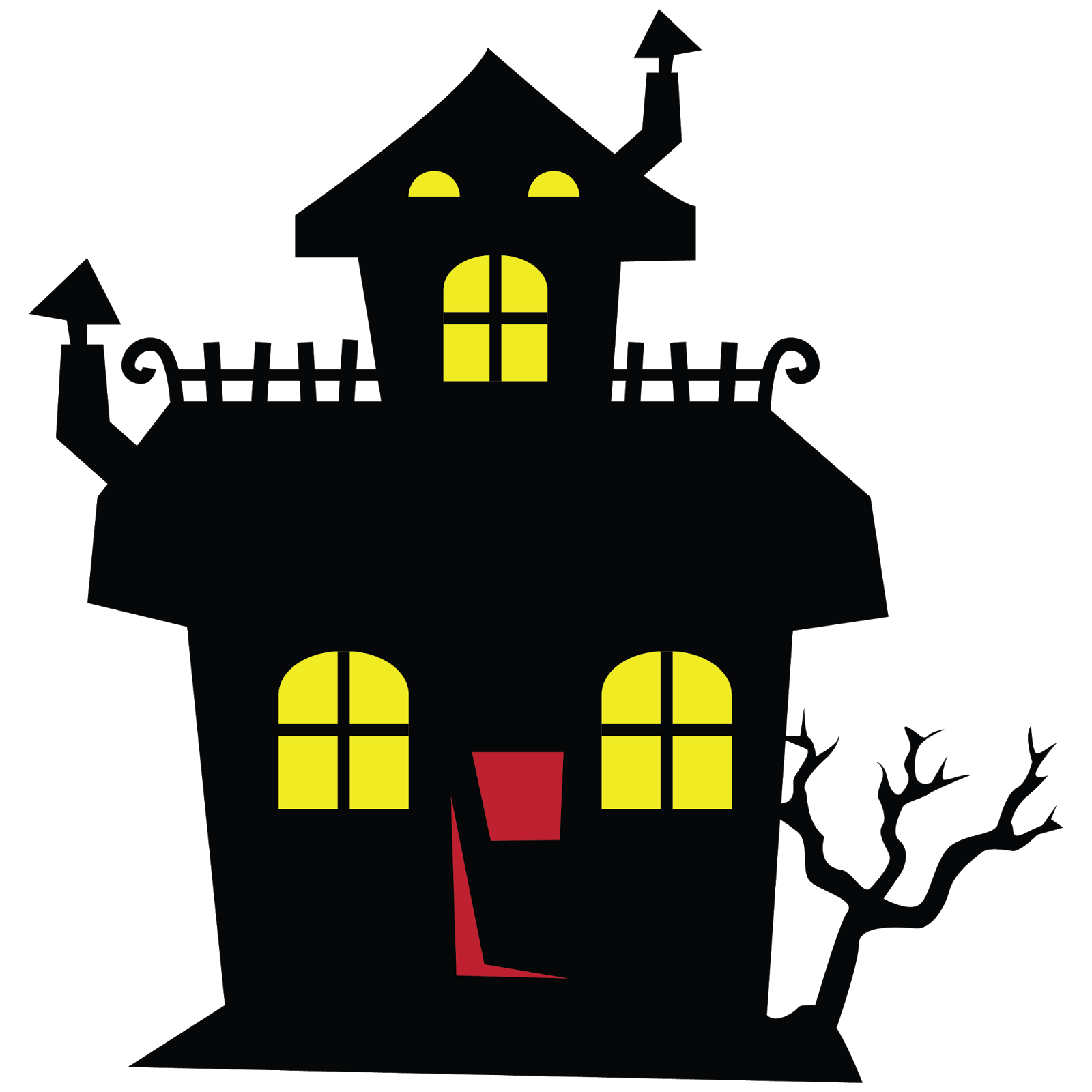 1600x1600 Halloween Haunted House Clip Art