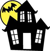 165x170 Haunted House Clip Art
