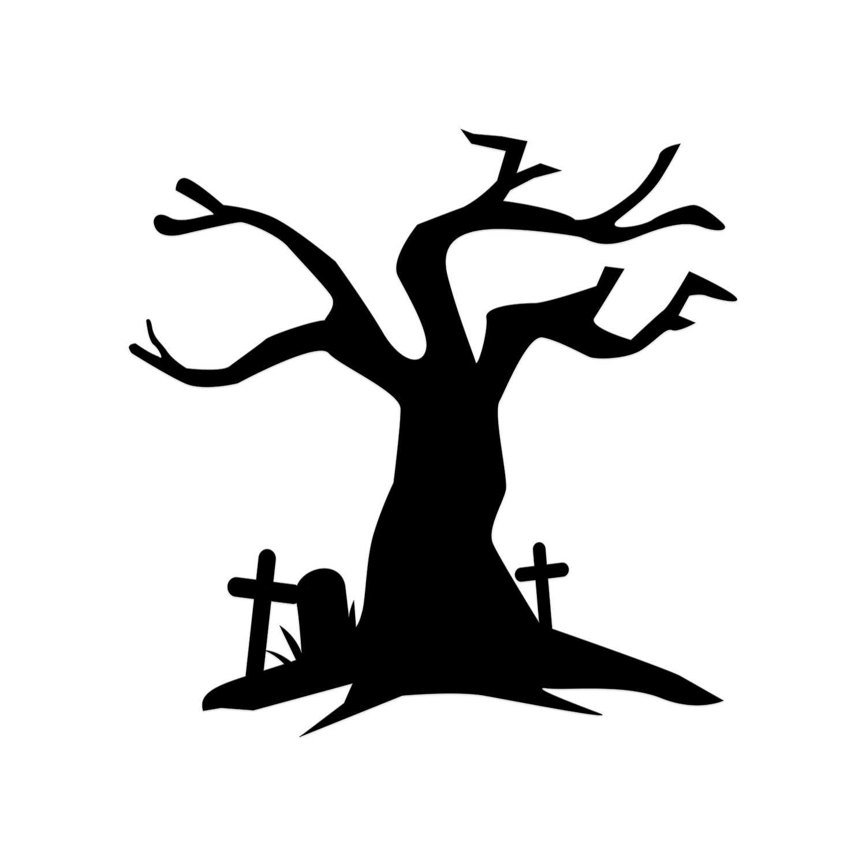 1500x1500 Haunted House Clipart Haunted Tree