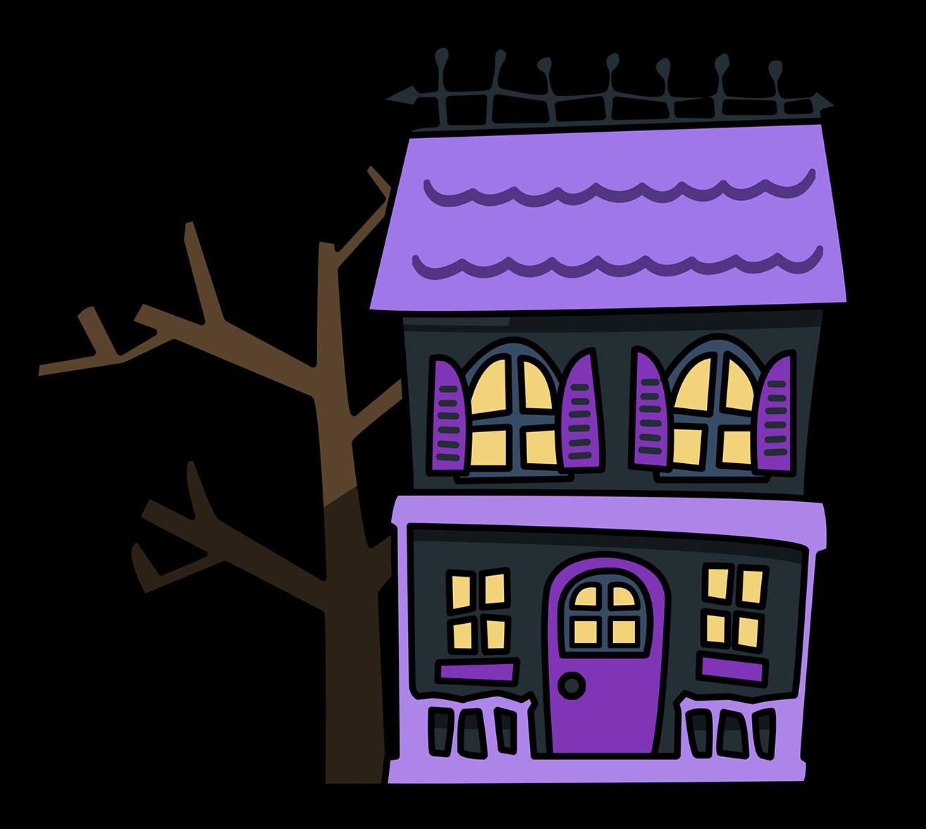 1314x1176 Horror House Cliparts