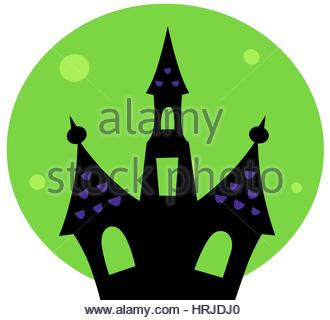 330x320 Cartoon Scary House Isolated On White Background Stock Vector Art