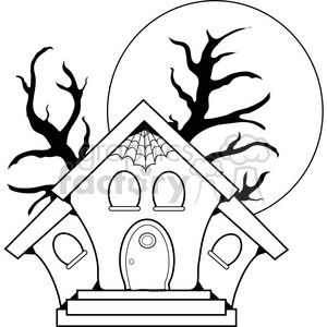 300x300 Royalty Free Haunted House 387628 Vector Clip Art Image