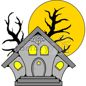 300x300 Royalty Free Haunted House In Color 387606 Vector Clip Art Image