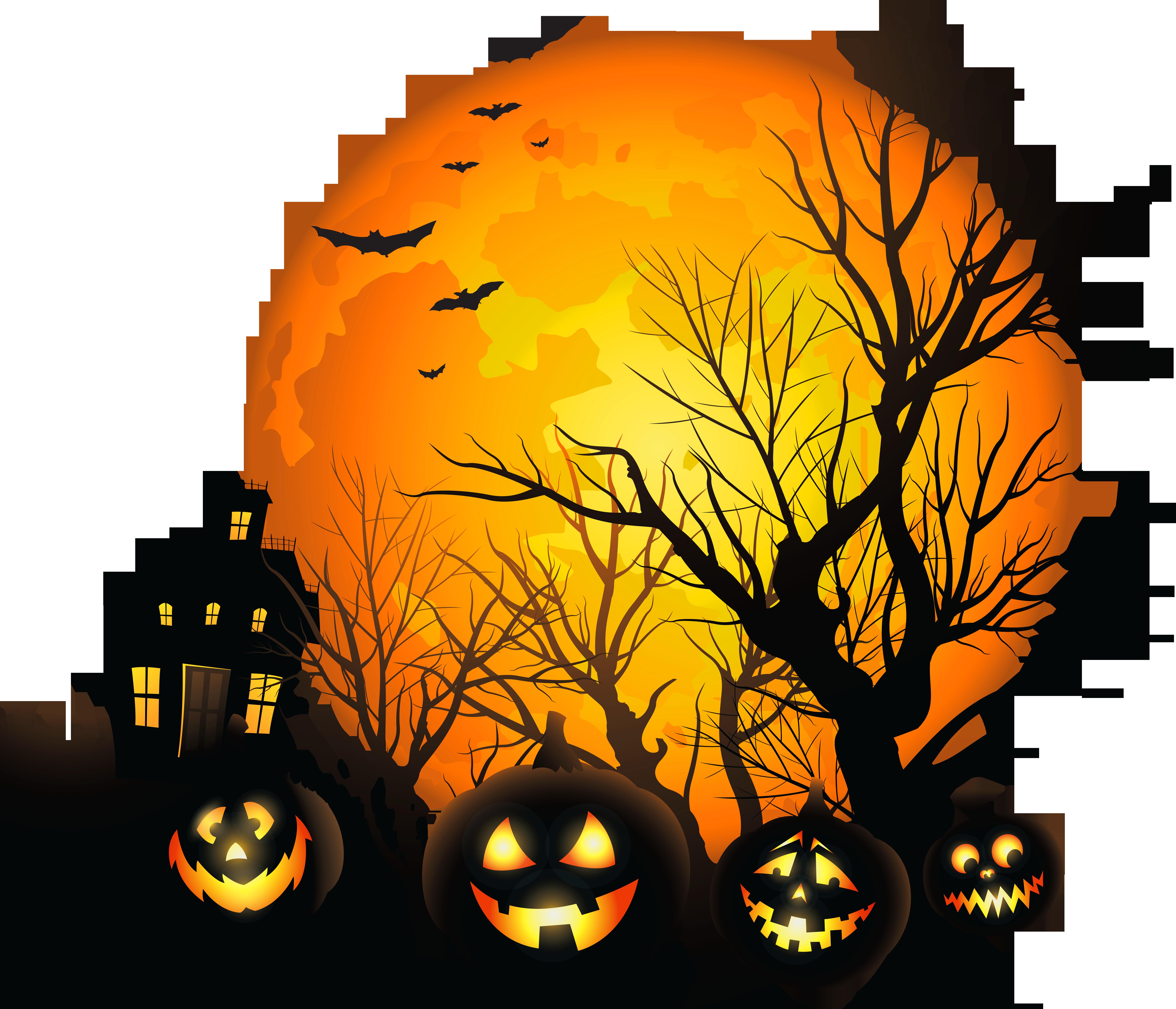 6400x5489 Top 91 Haunted House Clip Art