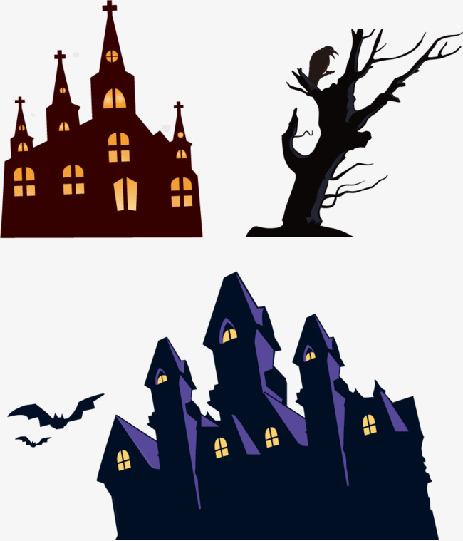 650x759 Vector Haunted House Bat, Haunted House, Vector, Bat Png