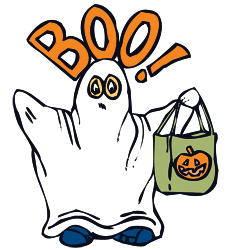 250x250 Ghost Clipart And Vector Graphics For Halloween