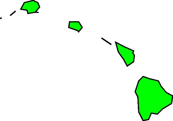 600x422 Hawaiian Islands Clip Art
