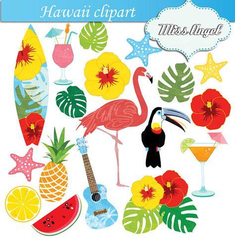 474x489 Hawaii Clipart Flamingo, Hawaiian Summer Beach Clip Art. Flamingo