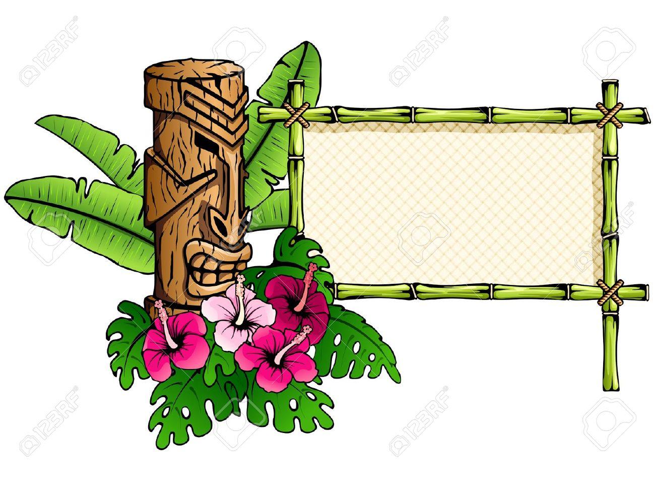 1300x974 Hawaii Clipart Tiki Bar