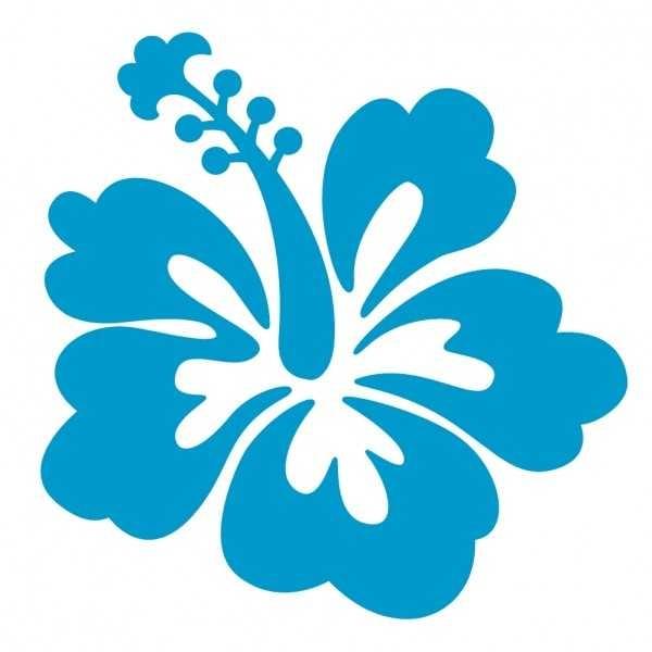600x600 Hawaiian Hibiscus Flower Clip Art Free Vector Download On Hibiscus