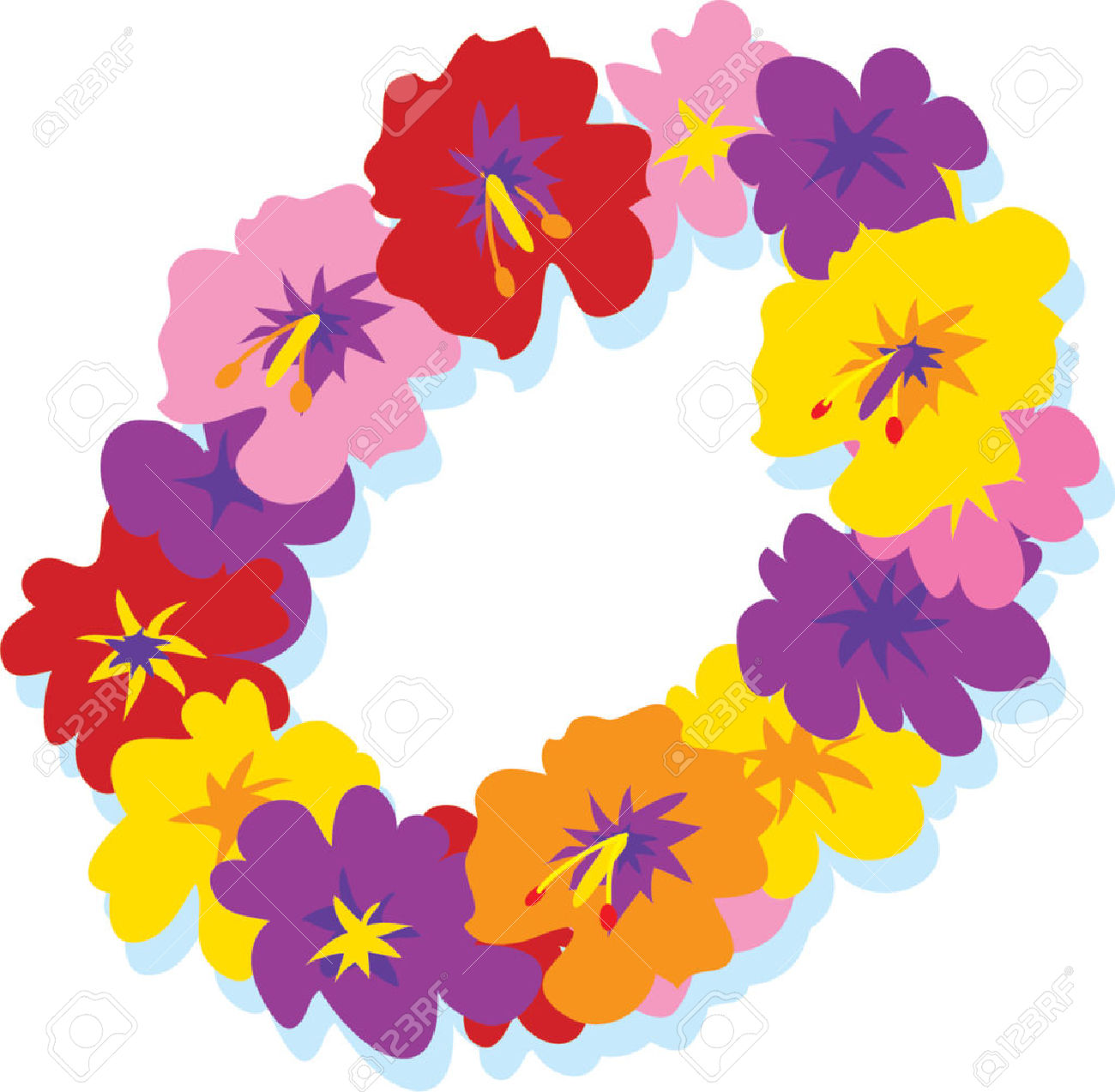 Hawaiian Flower Cartoon Images Flowers Healthy