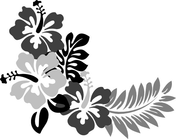 Hawaiian Clipart Black And White Free Download Best