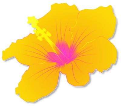 400x350 Hawaiian Flower Tropical Free Hawaiian Clip Art Flower Luau 5