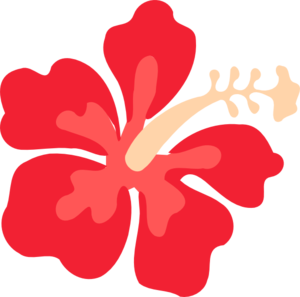 300x297 Red Hibiscus With No Flowers Clip Art