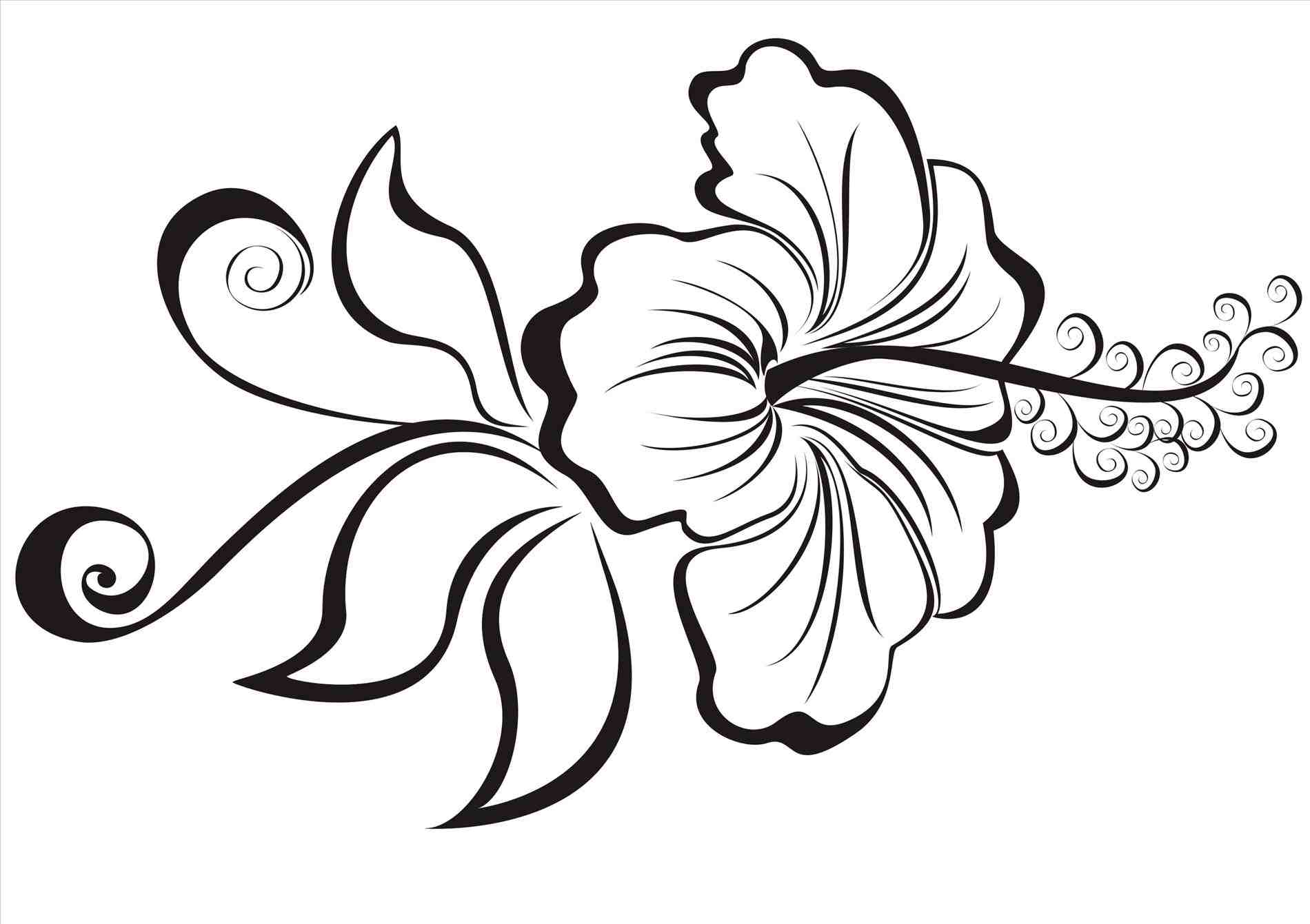 Hawaiian Flower Drawing Free Download Best Hawaiian Flower Drawing