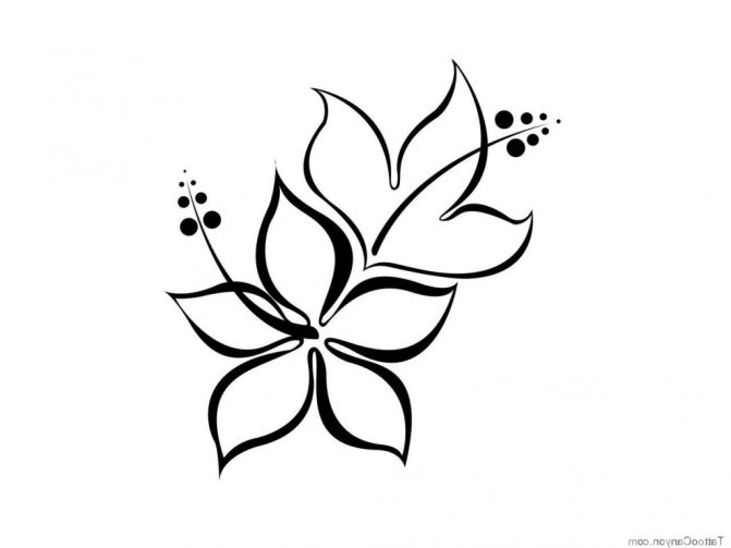 Free Hawiian Flowers Coloring Pages To Print