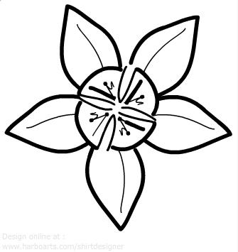 Hawaiian Flower Outline