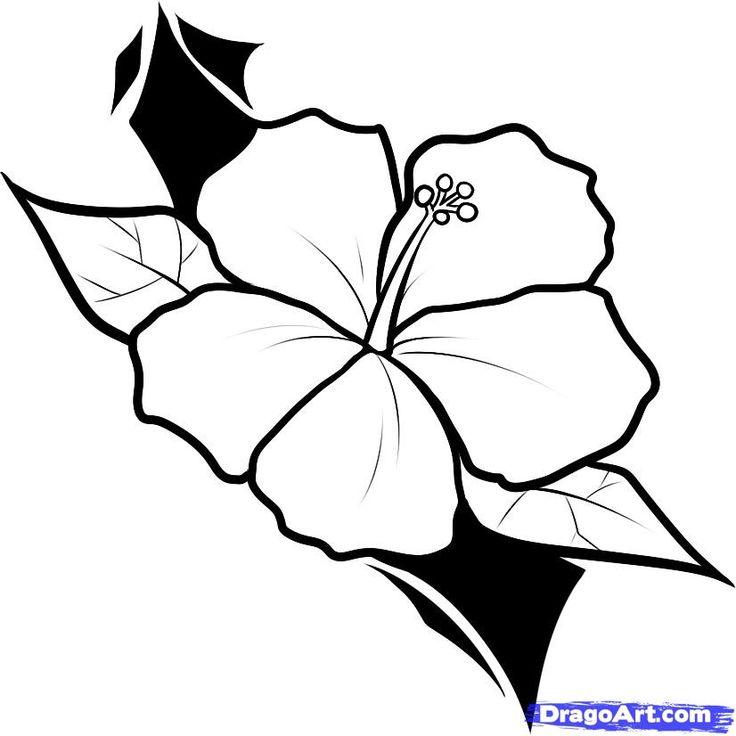 Hibiscus Outline Tattoo