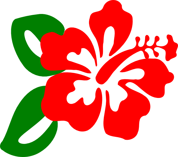 600x529 Hawaii Clipart Red Hibiscus