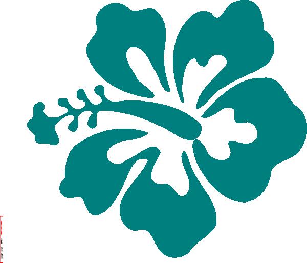 600x513 Hawaii Clipart Teal Flower