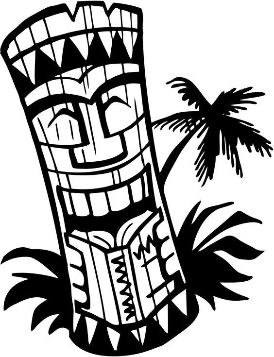 564x735 Hawaiian Flower Border Clipart
