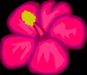 300x258 Pink Hawaiian Flower Clip Art