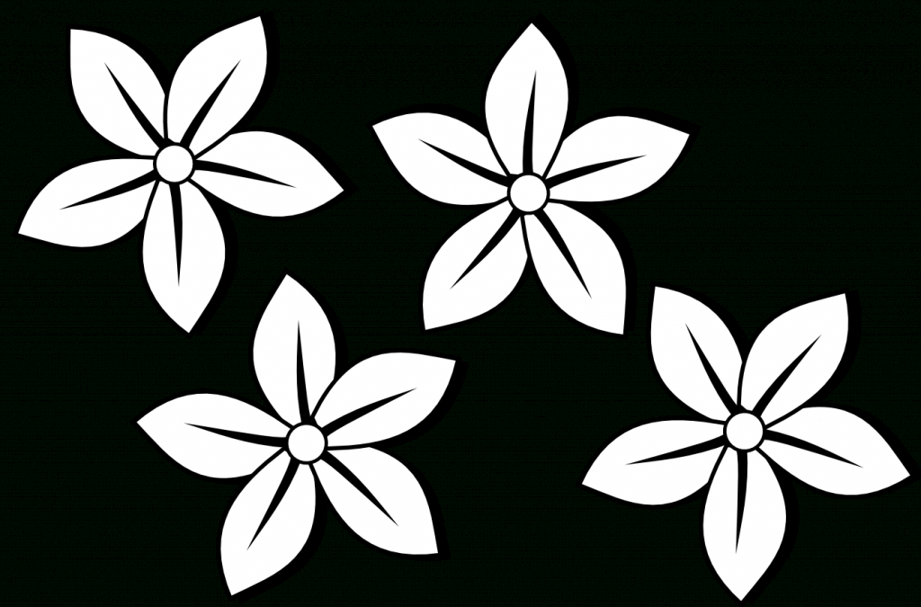 1024x675 Clip Art Of Flowers Drawings Hawaiian Flower Drawing Free