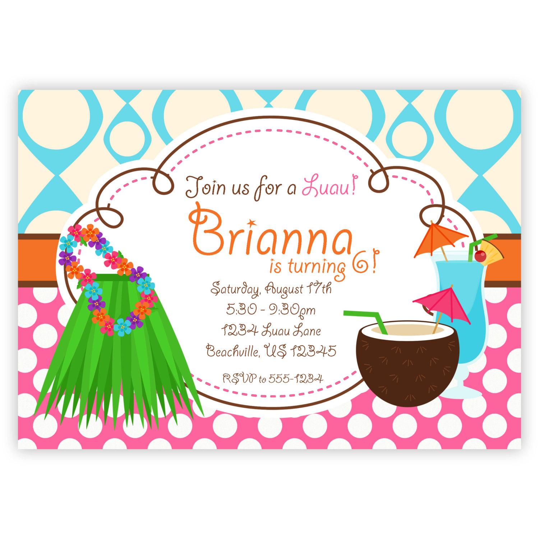 1500x1500 Hawaiian Party Invitations