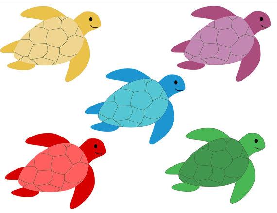 570x440 Free Hawaiian Turtle Clipart Image