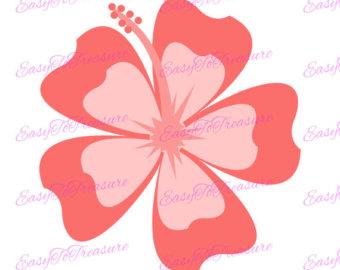 340x270 Hawaiian Luau Clipart Hula Girl Hibiscus Tiki Clip Art