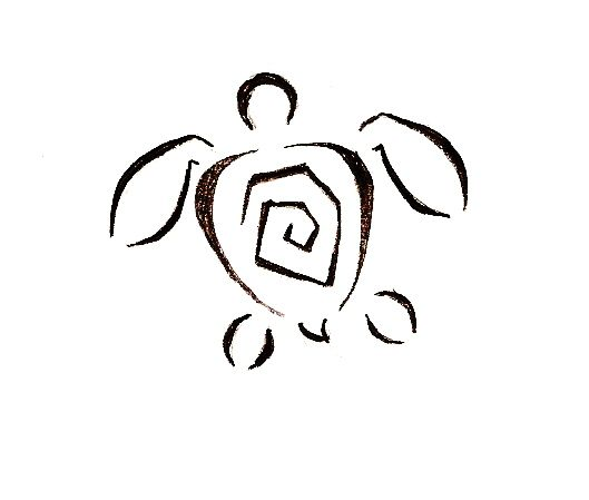 Hawaiian Turtle Outline | Free download on ClipArtMag