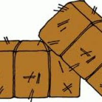 200x200 Hay Bale Clipart