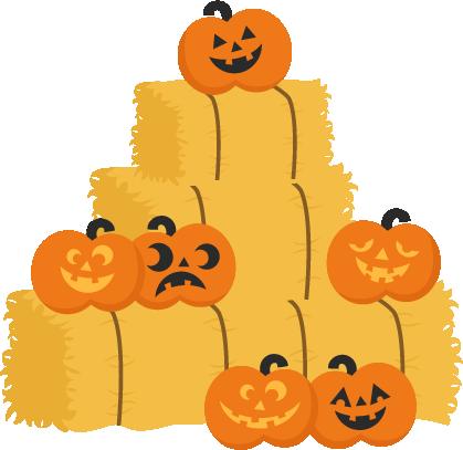 419x407 Jack O Lanterns On Hay Bales Svg Cutting Files Pumpkin Svg Cuts