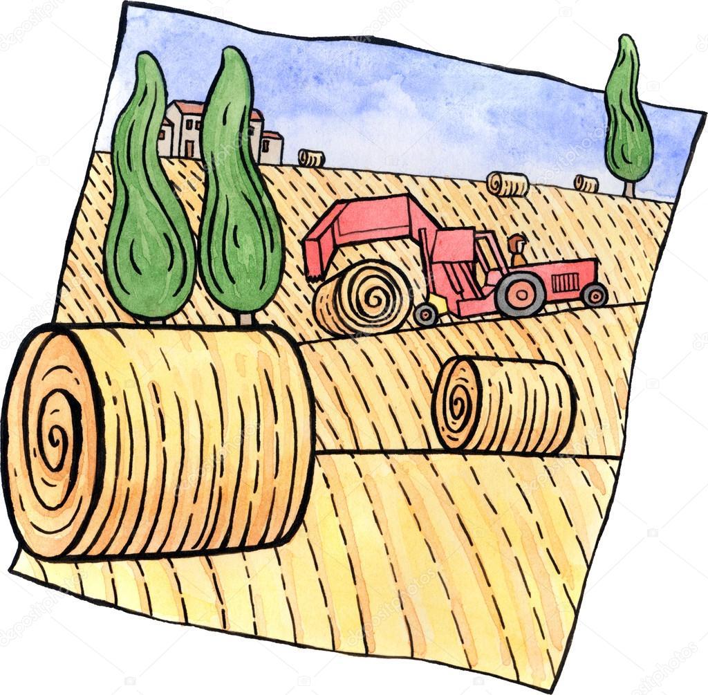 1024x1005 Round Hay Bale Clip Art