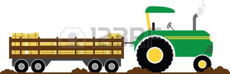 450x146 Tractor Clipart Hay Wagon