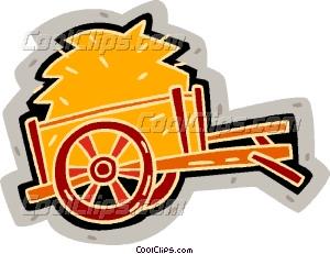 300x231 Hay Wagon Vector Clip Art