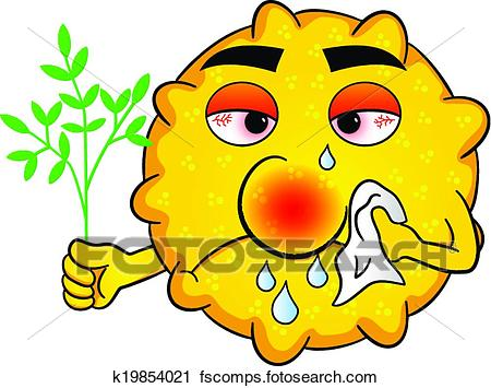 450x355 Clipart Of Pollen With Hay Fever K19854021