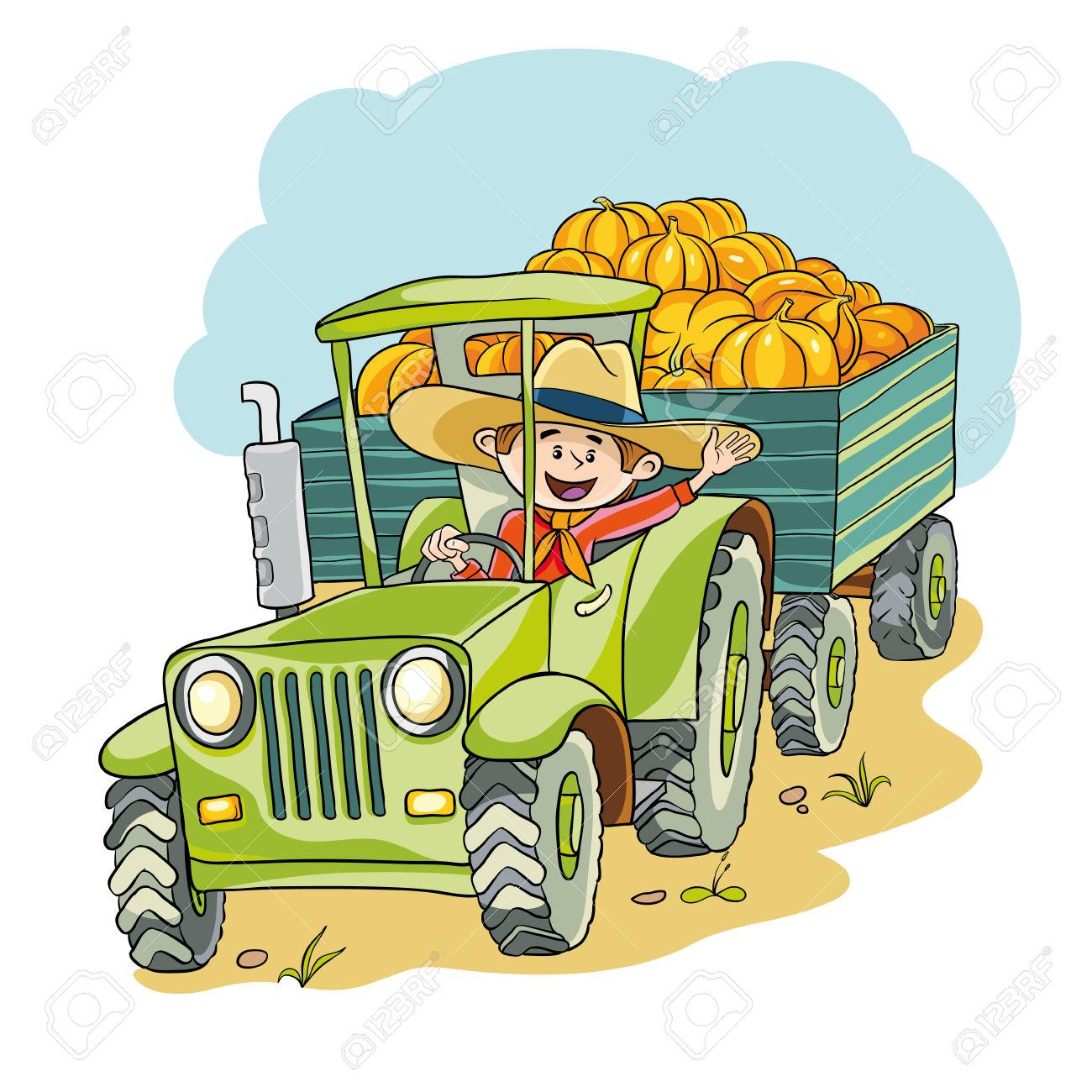 Hay Wagon Vector Free |Hayride Wagon Clipart