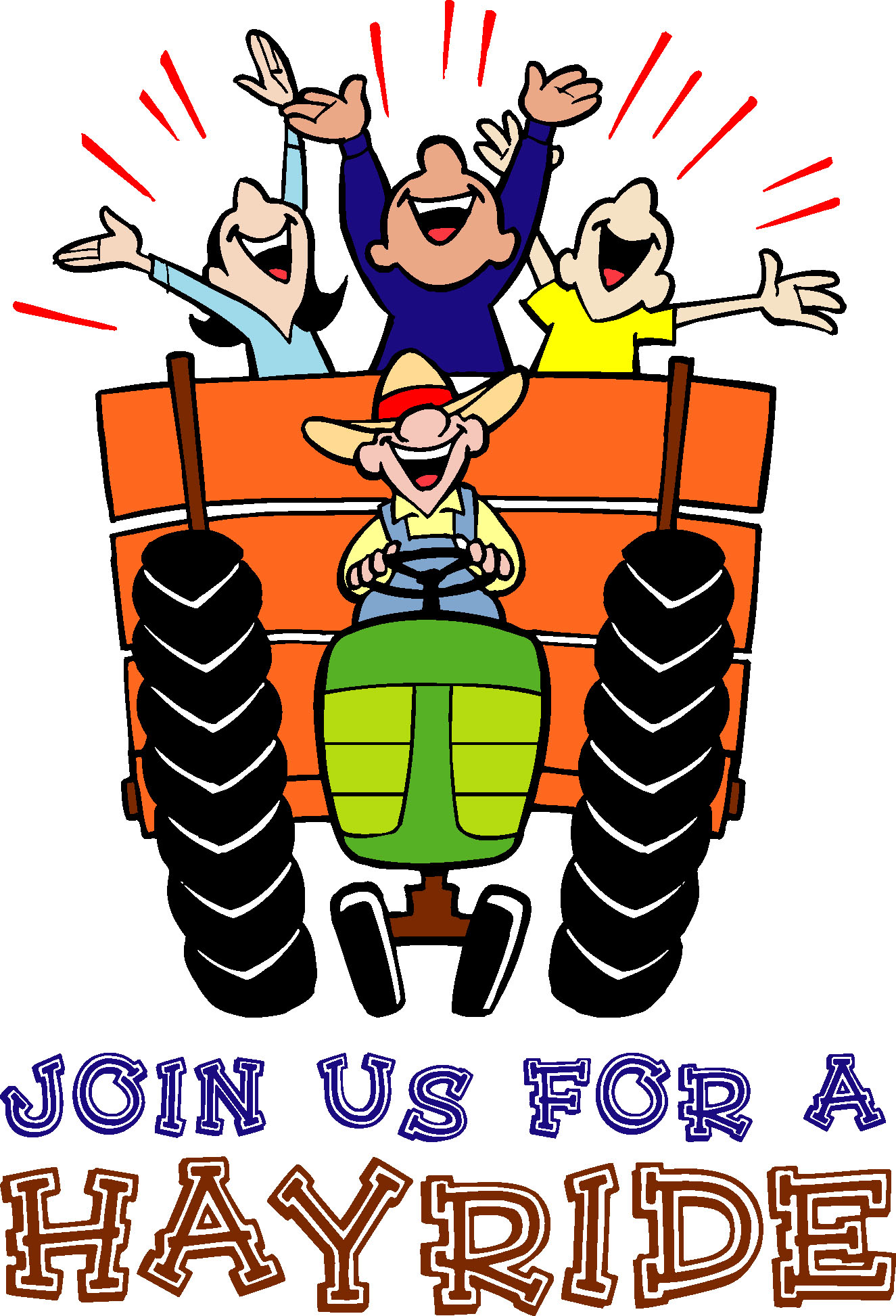 Tractor Pulling Hay Wagons Stock Illustration - Download ... |Hayride Wagon Clipart