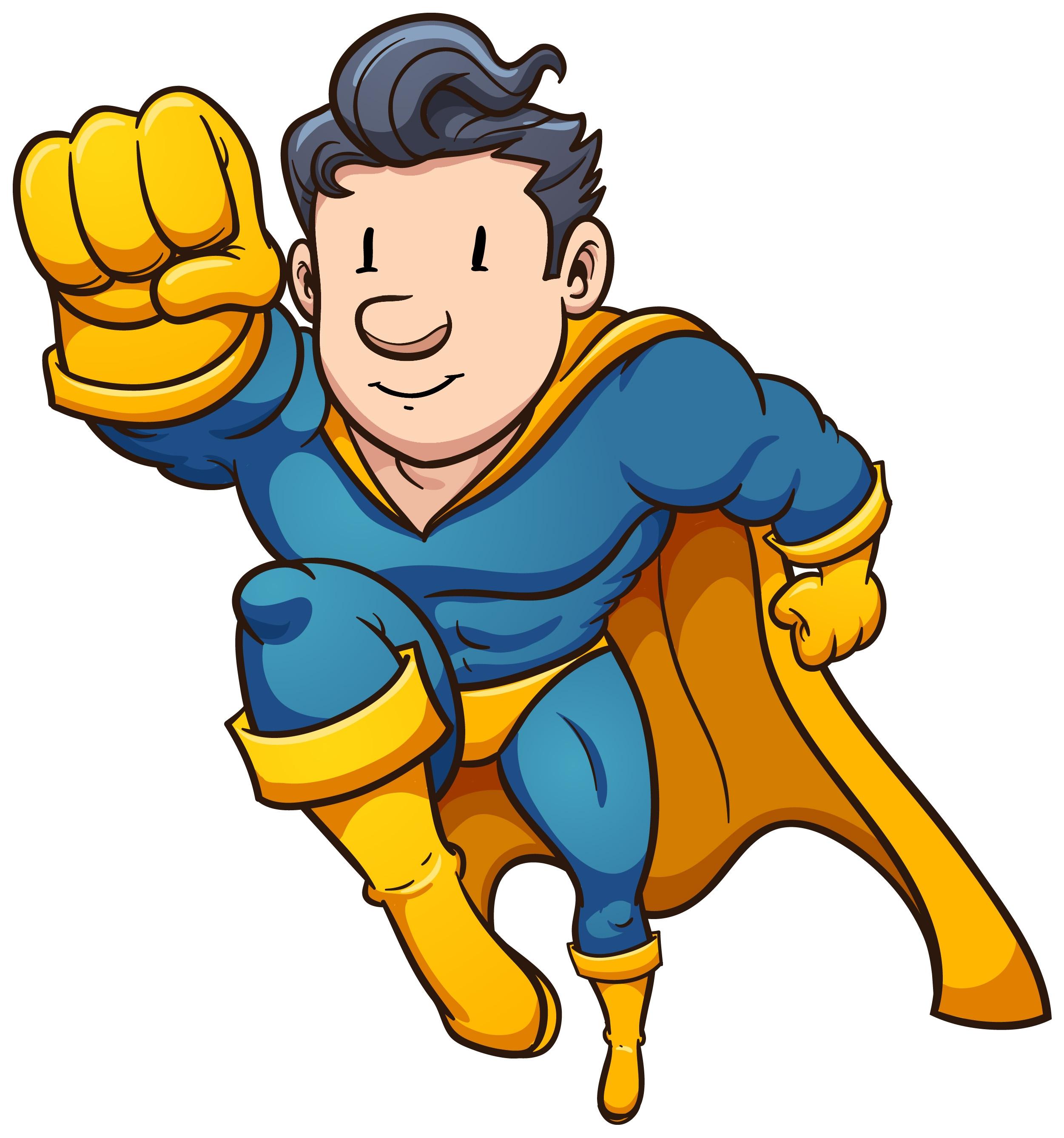 2502x2677 Super Hero Clip Art
