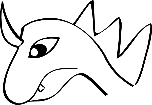 600x416 Dragon Head Clip Art Free Vector In Open Office Drawing Svg ( Svg