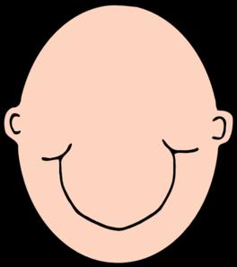 264x297 Plain Peach Head Clip Art