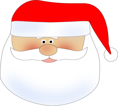 413x370 Santa Head Clip Art