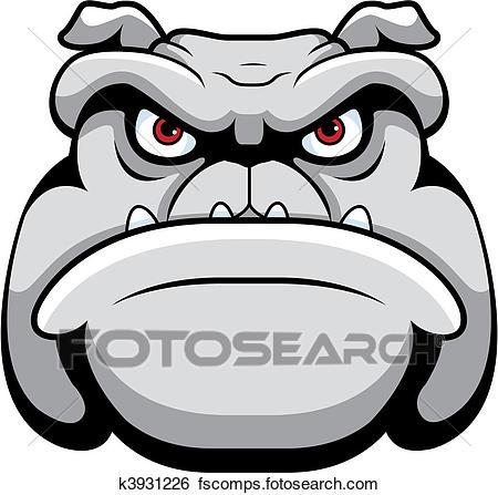 450x447 Clip Art Of Bulldog Face K3931226