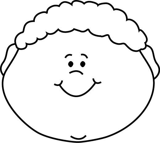 Head Clipart Black And White