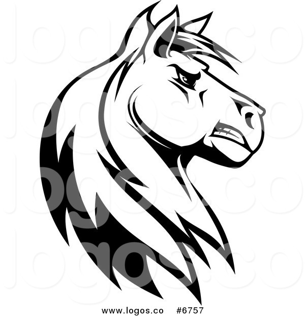 600x620 Royalty Free Clip Art Vector Logo of a Black and White Tough