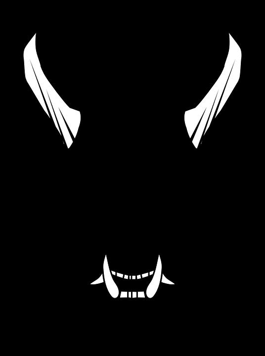 536x720 Devil Head Clipart Black And White