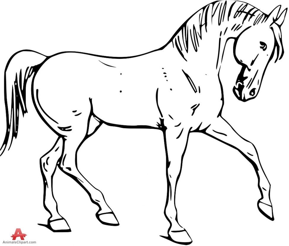 974x831 Coloring Pages Horse Outline Clip Art 1483112 Coloring Pages